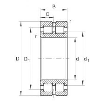 180 mm x 225 mm x 45 mm  INA SL014836 cylindrical roller bearings
