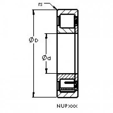AST NUP2317 EM cylindrical roller bearings
