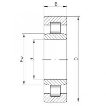 1120 mm x 1360 mm x 106 mm  ISO NU18/1120 cylindrical roller bearings