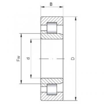 190 mm x 400 mm x 155 mm  ISO NJ3338 cylindrical roller bearings