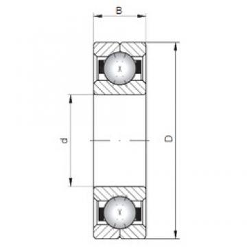 ISO Q216 angular contact ball bearings