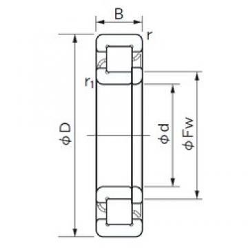 150 mm x 270 mm x 45 mm  NACHI NUP 230 E cylindrical roller bearings