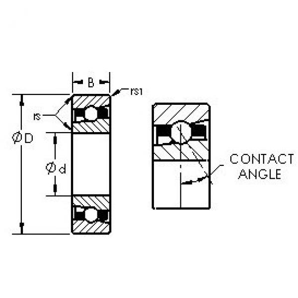 AST H71932C angular contact ball bearings #3 image